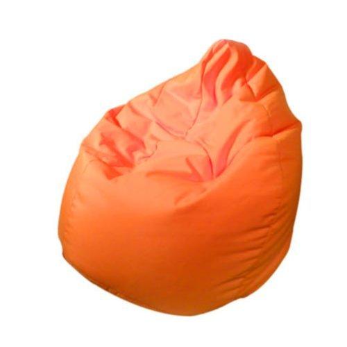 Outletissimo® poltrona sacco pouf pouff puff puf arancione modello mega 90x135cm nuovo offerta