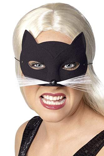Augenmaske Katzenmaske Katze Maske schwarz ()
