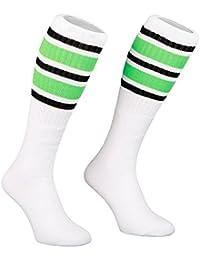 Skatersocks 22 Inch Unisex Tube Socken Strümpfe weiß green/black gestreift