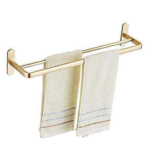 LiTingDz Punch-Free Handtuchhalter Badezimmer Badezimmer Raum Aluminium Verbreiterte Licht Single Pole Doppelpol Handtuch Hanging Nail Handtuchhalter 60 cm -