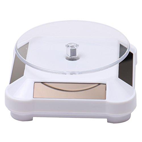 MagiDeal XRF-038 360° Solar Drehteller Präsentierteller Drehbühne Ideal für Präsentation von Handys,Uhren und Schmuck Weiß