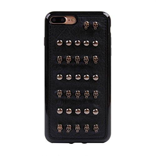 Hülle für iPhone 7 plus , Schutzhülle Für iPhone 7 Plus Niet-Art-Muster TPU + Metall weicher schützender rückseitiger Abdeckungs-Fall ,hülle für iPhone 7 plus , case for iphone 7 plus ( SKU : Ip7p1211 Ip7p1211q