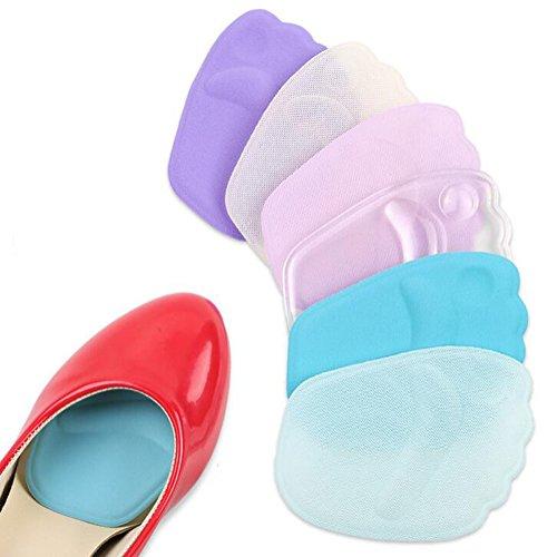 3 Paar Schaumstoff Ball von Fuß 3D-Kissen-Pads Vorfuß Mittelfuß Schmerzlinderung wiederverwendbar übertragbar & Sie Schritte lindern Vorfuß pain- perfekt für High Heels (zufällige Farbe) (High-heel-füße)
