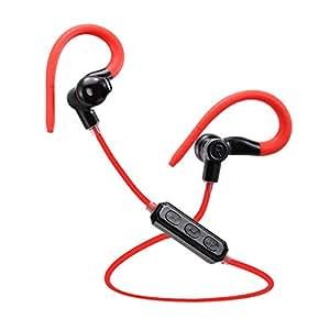Muker-M1 Auricolari Wireless Bluetooth 4.1 Headset Stereo Cuffie Sport a Prova di Sudore con Microfono Incorporato e Tecnologia AptX Headphone per iPhone 6/6 Plus, iPhone 5s/5c/5/4s, iPad, LG G2, Samsung Galaxy S5/S4/S3, Note 3 ed altri Cellulari Android