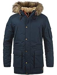 e35c4ae222b JACK   JONES Jaakov Men s Parka Outdoor Jacket Winter Coat With Teddy  Fleece And Fur Hood