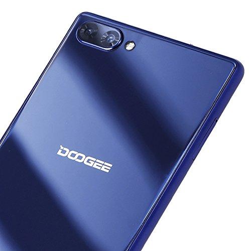 Doogee MIX 13,97 cm (5,5 Zoll) Smartphone (6GB RAM 64GB ROM Android 7.0 4G Helio P25 Octa-Kern 2,5 GHz Metallgehäuse Berührungssensor Front- und Doppel Rückkameras) Blau - 4