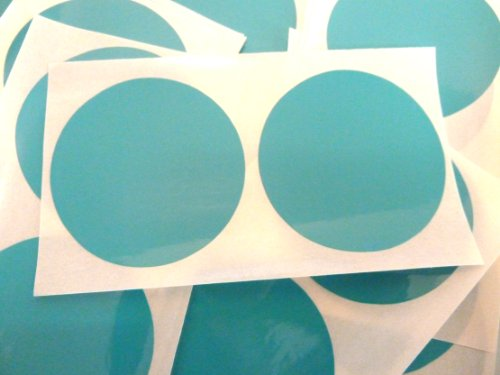 50 etiquetas, 50mm diámetro redondo, turquesa, código de color PEGATINAS, autoadhesivo ADHESIVO PUNTOS DE COLORES