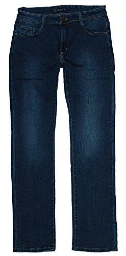 BigSpade Damen Stretch Jeans Hose gerades Bein B6994, darkblue (B6994), Gr.44 W34 (Gerades Bein Plus Size Jeans)