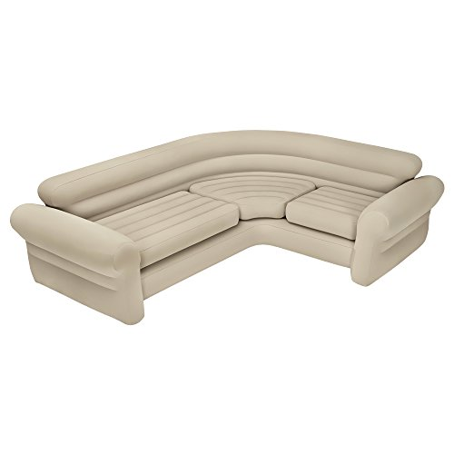 Intex 68575N, Sofá rinconera hinchable, 257x203x76 cm, color crema