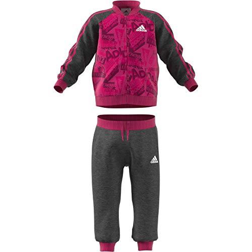 2833b1ddc503d8 adidas, Tuta da Basket Unisex per Bambini Jogger French Terry, DJ1558, Real  Magenta