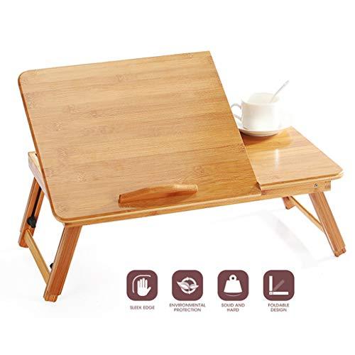 Ergonomie Verstellbarer Laptop-Schreibtisch Pure Yellow Bamboo Table Faltbarer Frühstücks-Serviertablett Cosy Laptop-Schreibtische von Furniture, JVCZ -