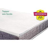KAMA HAUS Top Topper Viscoelastico | Colchoncillo de Visco | 50 kg/m3 Densidad |
