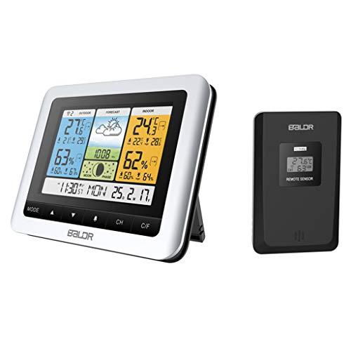 Qiman Termómetro Higrómetro pantalla color Temperatura