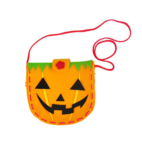 BESTOYARD DIY Nähen Happy Cartoon Halloween Süßigkeiten Handtasche Tuch Kinder Geschenk Taschen (Kürbis) (Cartoon Happy Halloween)