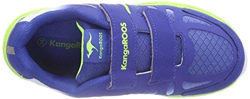 KangaROOS 2104 Unisex-Kinder Sneakers Mehrfarbig (royal blue/ lime 484)