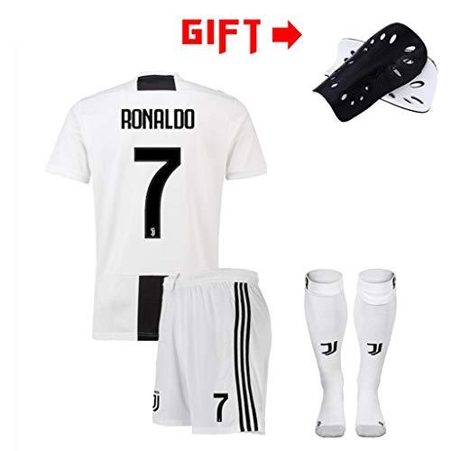 HWHS316 Fußball T-Shirt Sportanzug Juventus F.C. Trikot 7. Cristiano Ronaldo CR7H Fußball Sportbekleidung Erwachsene Und Kinder Fußball Junge T-Shirt,M170~175CM -