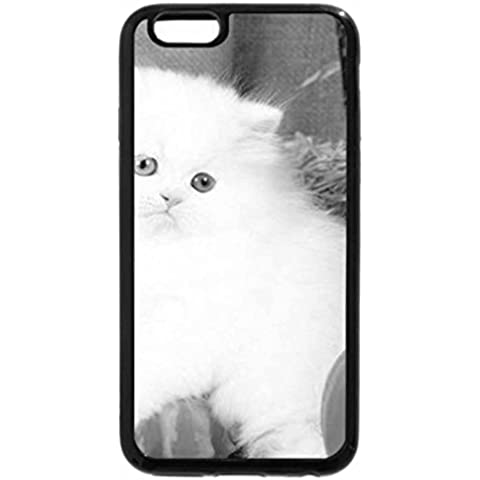 iPhone 6S Case, iPhone 6 Case (Black & White) - Harvest Kitty