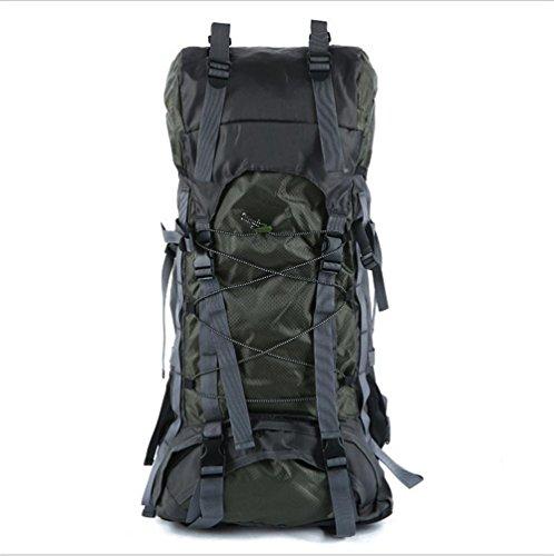 Z&HX sportsOutdoor Bergsteigen Tasche Schulter Camping Wandern M?nnlich Und Weiblich Gro?e Kapazit?t army green