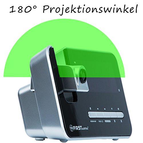 Radiowecker mit Projektor – 1,2 Zoll LED Display in 3 Stufen Dimmbar oder abschaltbar - 4
