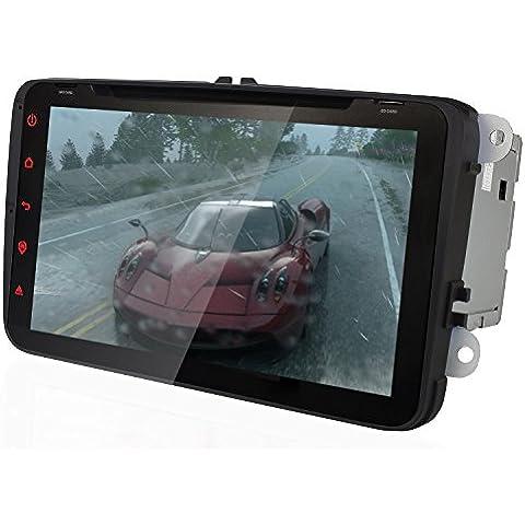 YINUO 8 Pulgadas Android 4.4.4 Quad Core 2DIN In Dash 16GB 1024*600 Pantalla Táctil Reproductor De DVD Navegación GPS De Coche Soporte De Radio AM/FM/ SD/USB/ Bluetooth Para VW/ Jetta/ Skoda/ Seat Series