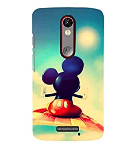 For Motorola Moto X Force :: Motorola Moto X Force Dual SIM cute cartoon, mouse, big ear cartoon, blur background Designer Printed High Quality Smooth Matte Protective Mobile Pouch Back Case Cover by BUZZWORLD