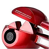 Elektrische Lockenwickler, automatische Haar Curling Lockenwickler, Haar LCD Display Keramik Walze Welle Maschine Steamer UK Stecker (Red)