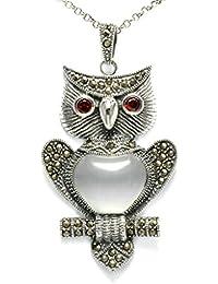 Daesar 925 Sterling Silber Damen Halsketten Eule Mit Zirkonia Anhänger Halsketten Kette