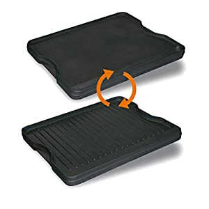 Enders Grill Cast Iron Reversible Griddle for Brooklyn, Black, 40.5X33.5X3 cm 7848