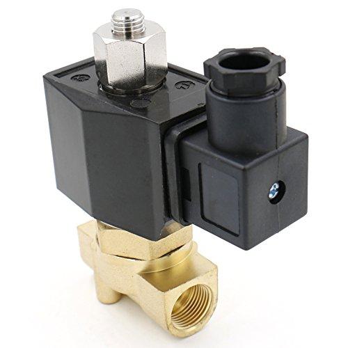 Elektromagnetventil aus Messing 2WK040-10 PT 3/8 von Heschen, 12 V, für Wasser, Luft, Gas, stromlos offen
