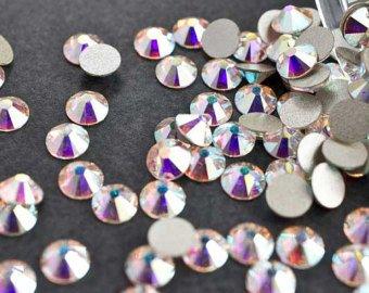 Swarovski Kristalle Aurore Boreale (001 Ab) Strass Strasssteine Nail Art - Small Pack - 2.8Mm (Ss10) 60 Stuck