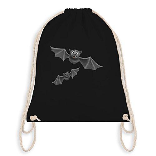 ledermäuse - Unisize - Schwarz - WM110 - Turnbeutel I Gym Bag (Vampir Outfit Ideen)