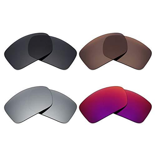 Mryok polarisierte Ersatzgläser für Costa Del Mar Blackfin Sonnenbrillen - Stealth Black/Bronze Brown/Silver Titanium/Midnight Sun