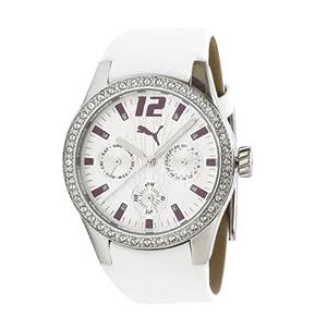 Reloj Puma A.PU101972001 de mujer de cuarzo con correa de piel blanca - sumergible a 50 metros de PUMA