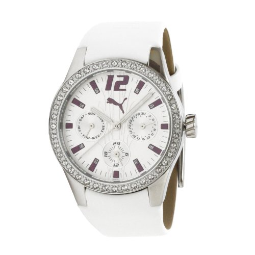 Puma Time Ladies Watch TIRE LADIES MULTIFUNCTION WHITE STONES A.PU101972001
