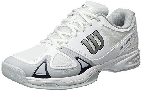 Wilson Rush Evo, Herren Tennisschuhe, Mehrfarbig (White/Pearl Blue/Navy), 49 1/3 EU