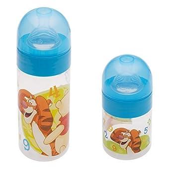 2 qu'il a mis: Disney Winnie Ourson bleu bébé Bouteille à col large 125 ml + 250 ml de 0 mois pour nouveau-né