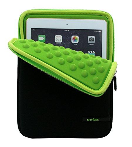4 Cover Samsung Zoll 10 Tab (9.7-10.1 Zoll Anti-Shock Bubble Hüle Sleeve mit kleinen Tasche (geeignet für Tablets für das Apple iPad Air & iPad Air 2) Grün 2)