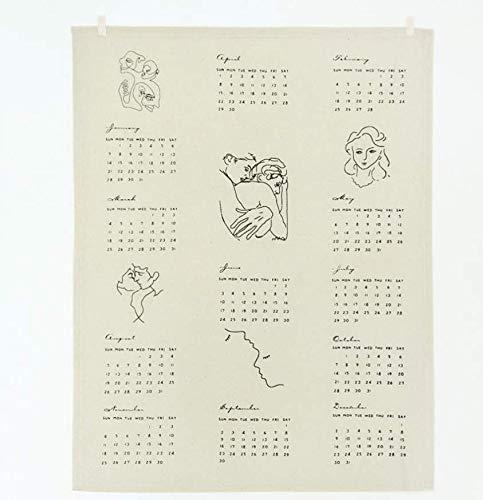 Preisvergleich Produktbild 2019 Wandkalender monatliches Jahr Tuch Ansicht Stand Office Office Paar Liebhaber Dekor geliebten Malerei Neues schönes Dekor