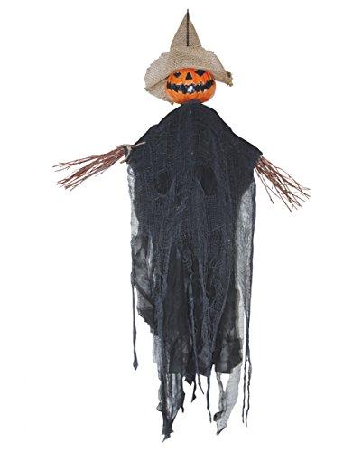 Halloween Hänge-Dekoration Vogelscheuche mit Kürbis-Fratze 89 (Halloween Fratzen)