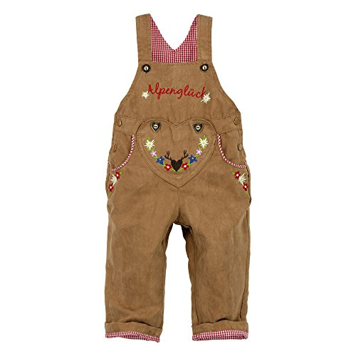 BONDI Kunstleder Latzhose, light brown 98 Tracht Baby Mädchen Artikel-Nr.85516