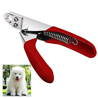 Accessotech Red Pet Nail Clippers Cutter for Dogs Cats Birds Guinea Pig Animal Claws Scissor Cut