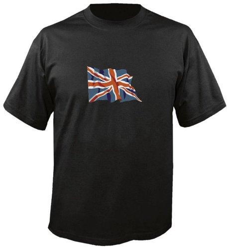 T-Shirt für Fußball LS188 Ländershirt mehrfarbig United Kingdom - Vereinigtes Königreich Fahne freie Farbwahl