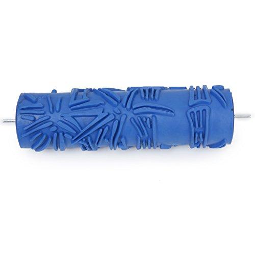 Brosse à Rouleau Empaistic Motif Bambou pour DIY Decoration Peinture - 17.8cm Bleu