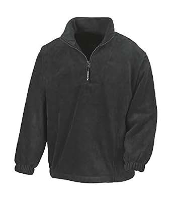 Result Fleecepullover Active mit Seitentaschen XS,Black