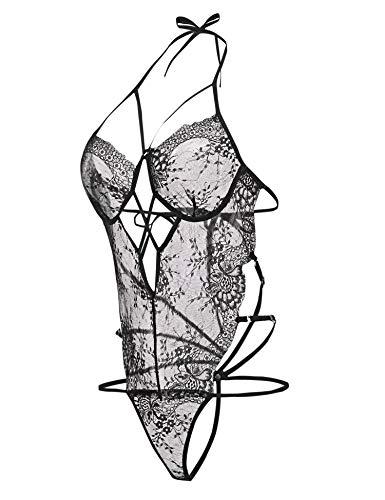 Sexy Body Dessous Lingerie Damen Sexy Reizwäsche Unterwäsche Strappy Spitzen Teddy Bodysuit