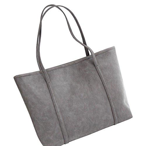 LAIDAYE Retro-Paket Frau Einkaufstasche Handtasche Schultertasche Grey