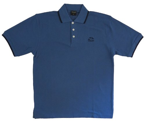 100% Baumwolle, Herren Polo Short Sleeve 9140 Trekking Blau