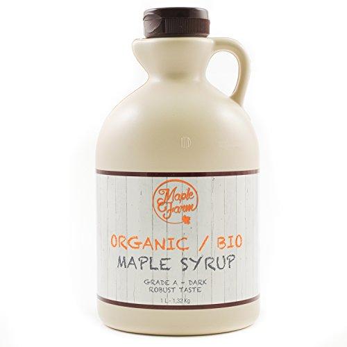 Puro sciroppo d'acero bio canadese grado a (dark, robust taste) - 1 litro (1,35 kg) - organic maple syrup - puro succo d'acero biologico