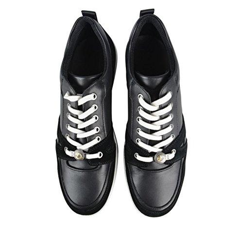 Versace Collection Medusa Hommes Chaussures Baskets A Lacets Sneakers Sport Noir