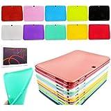 "Theoutlettablet® Funda de Gel / Silicona para Tablet Bq Aquaris M10 10.1"" Book cover case Protección trasera color Morado"